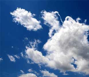 Researchers have calculated that the average cumulus cloud you see on a sunny day - weighs an incredible 500 000 kg